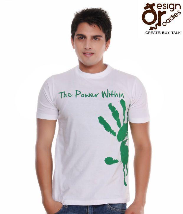 Design Roadies The Power Within White T-Shirt