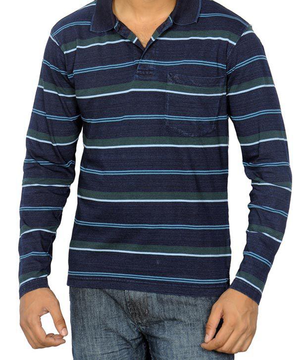 Monte Carlo Blue & Green Stripes T-Shirt