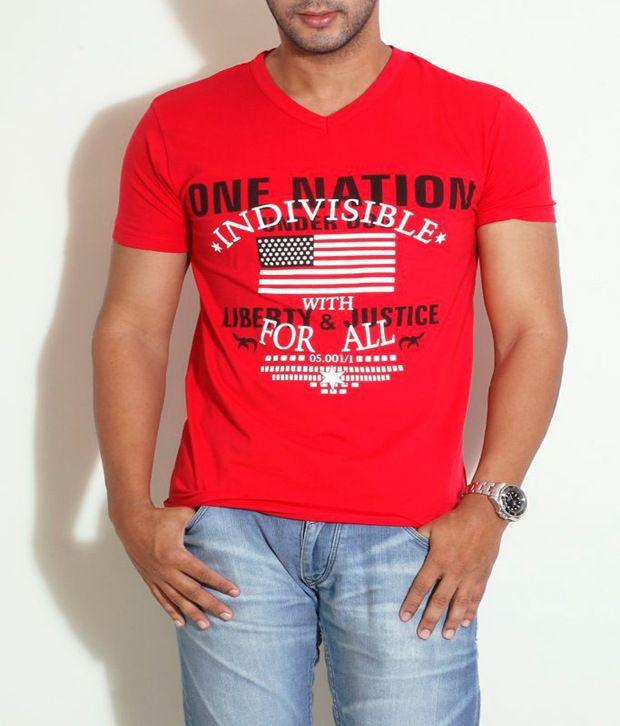 Globus Red Graphic Printed T-Shirt