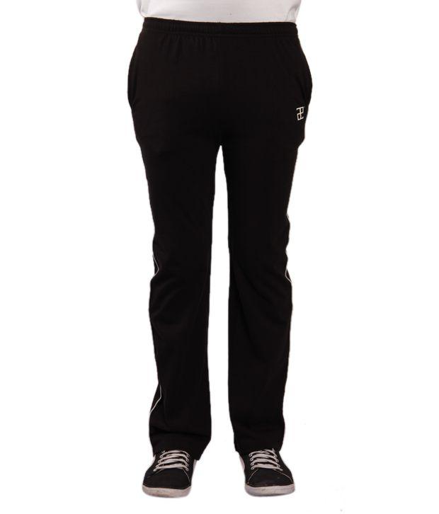 Adam n Eve Men's Black Track Pants