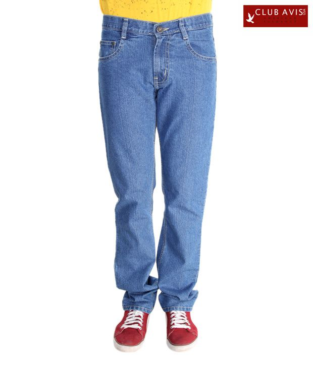 Club Avis USA Stylish Light Blue Slim Fit Jeans