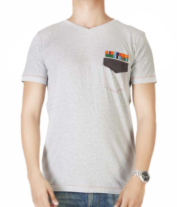 Dirty Laundry Cool Grey Melange T-Shirt