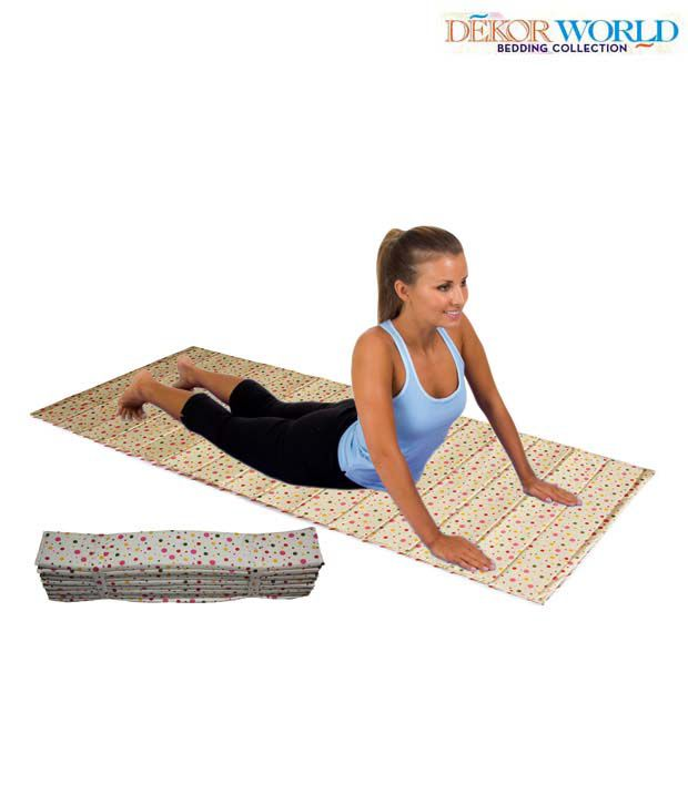Dekor World Multi-coloured Yoga Mat