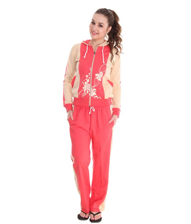 Fort Collins Pretty Coral Pink-Vanilla Tracksuit