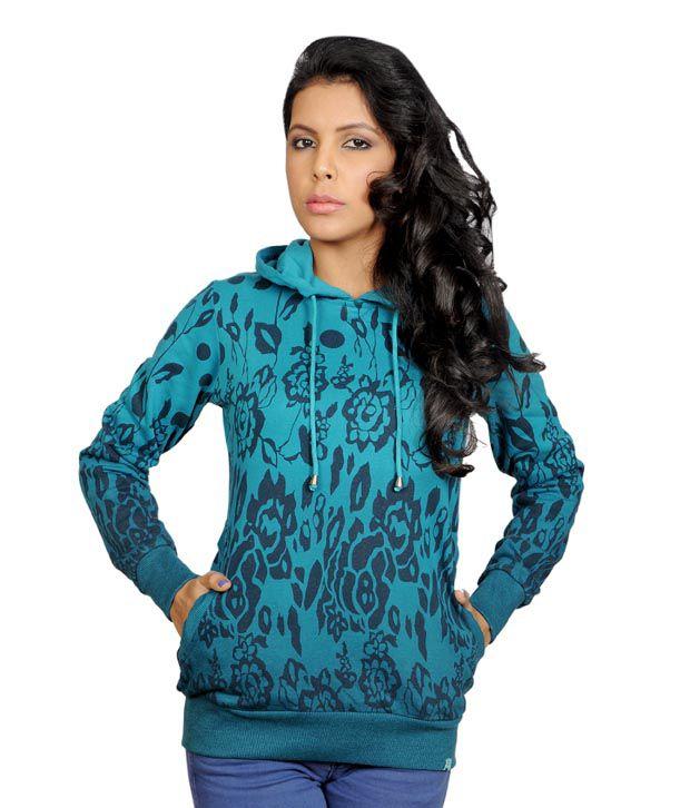 Monte Carlo Breezy Teal Blue Hoodie Jacket