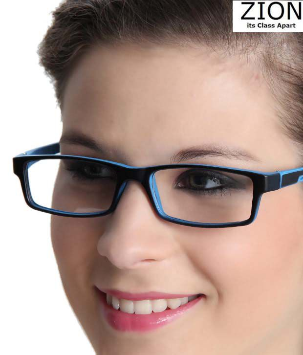 Zion Fashionable Blue & Black Optical Frame