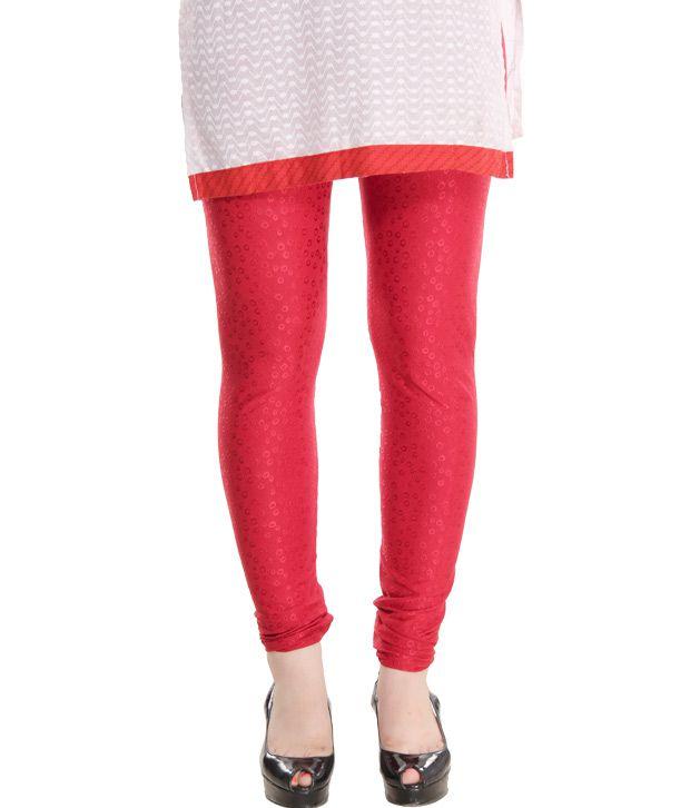 Pankhuri Vibrant Red Leggings