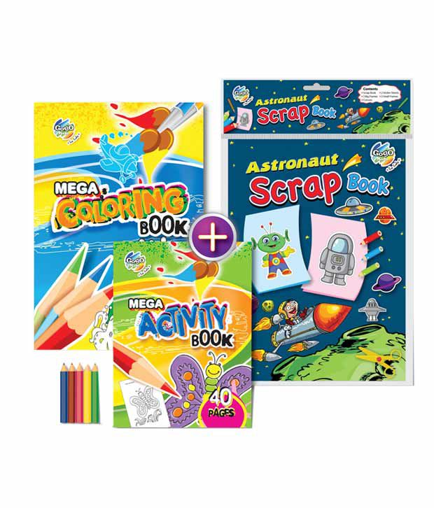 Gogo Kids Space Race Activity & Coloring Book Combo Pack (Pack of 2 sets)