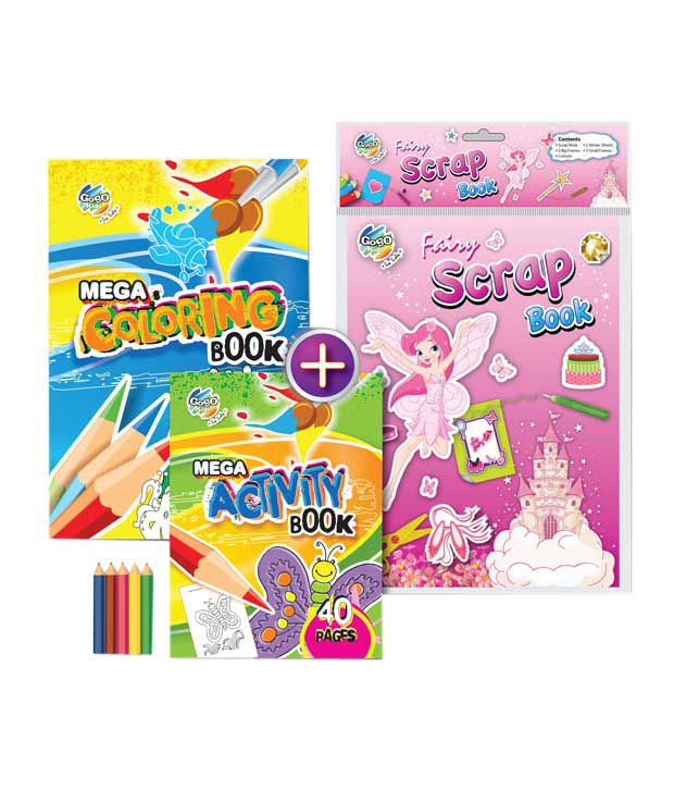 Gogo Kids Magic Drills Activity & Coloring Book Combo Pack (Pack of 2 sets)