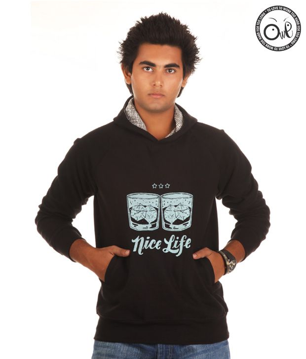 OWL Black Sweatshirts for men