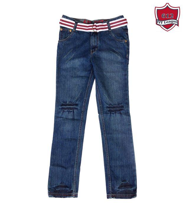 612Ivyleague Designer Blue Jeans