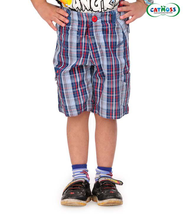 Catmoss Classic Checks Jamaican Shorts For Kids