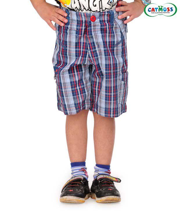 Catmoss Classic Checks Jamaican Shorts For Kids