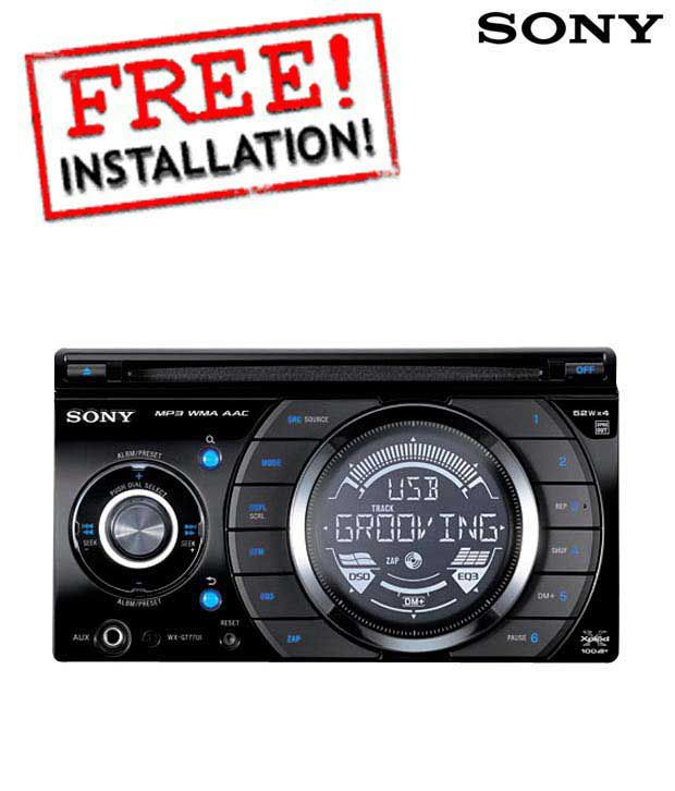Sony - WX GT 77 UI - Head Unit (With Free Installation)