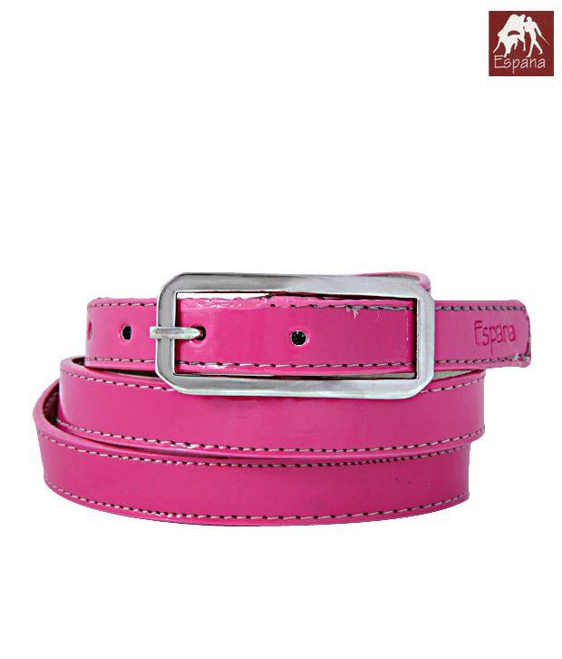 Espana Gleaming Pink Shiny Finish Ladies Belt