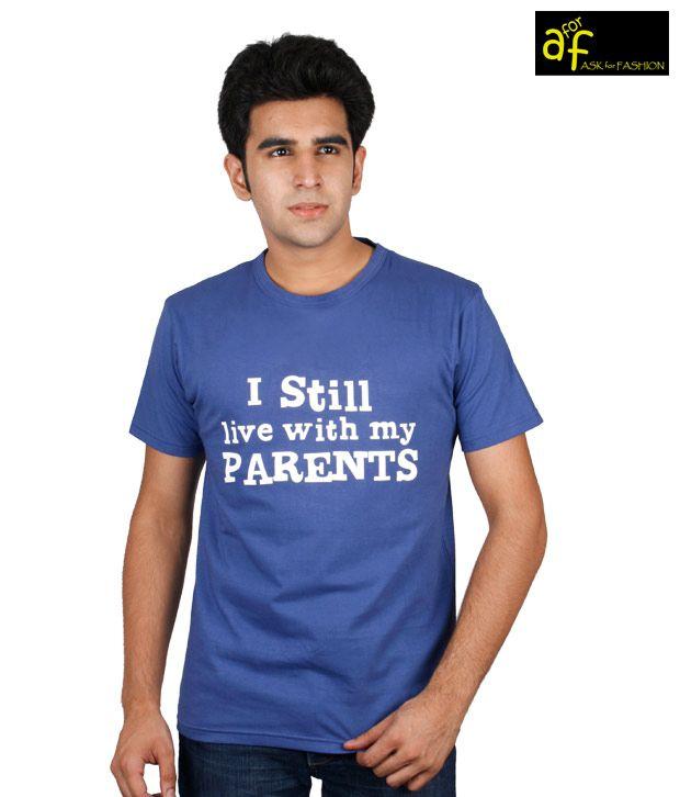 A for F Royal Blue Parents T-Shirt
