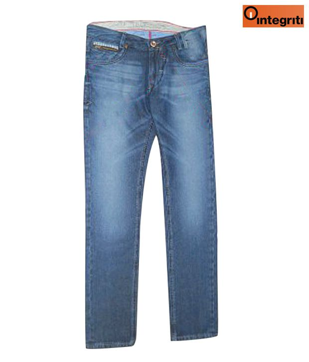 Integriti Stylish Blue Designer Jeans
