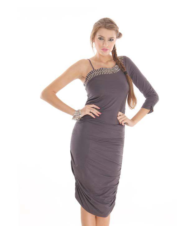 Latin Quarters Vivacious Smokey Grey Dress