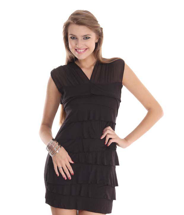 Latin Quarters Beautiful Black Short Dress
