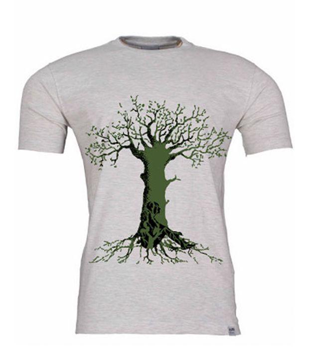 2M Smart Grey & Green Tree T-Shirt