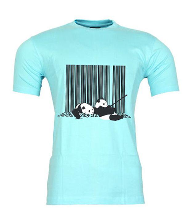 2M Panda Code Sky Blue T-Shirt