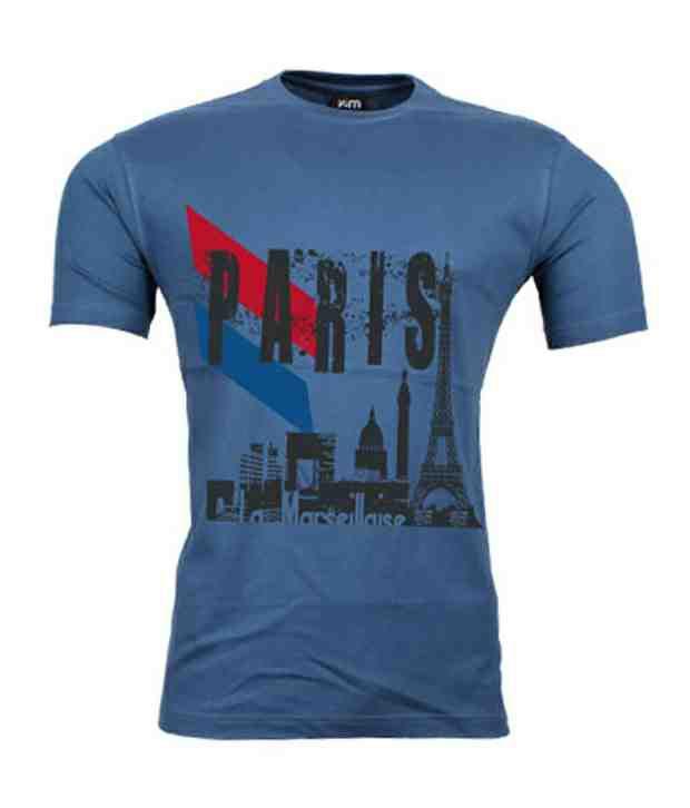 2M Smart Blue Paris Men's T-Shirt