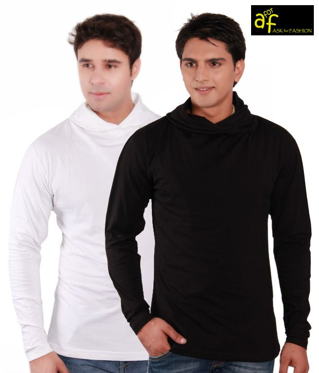 A for F White & Black Pack of Two Pullovers