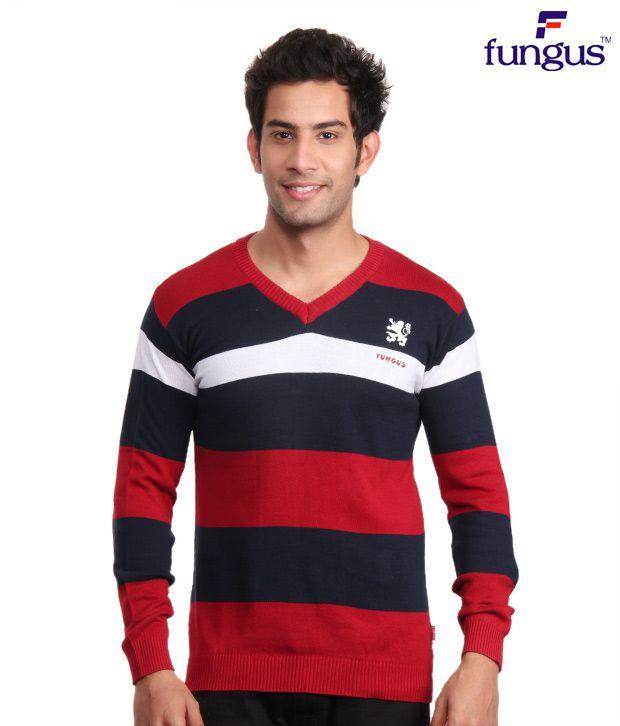 Fungus Red & Navy Blue Sweatshirt