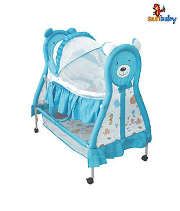 Sunbaby Blue Bear Baby Bassinet