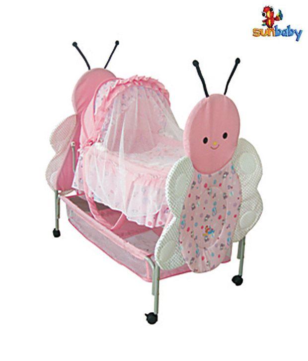 Sunbaby Pink Bee Baby Bassinet