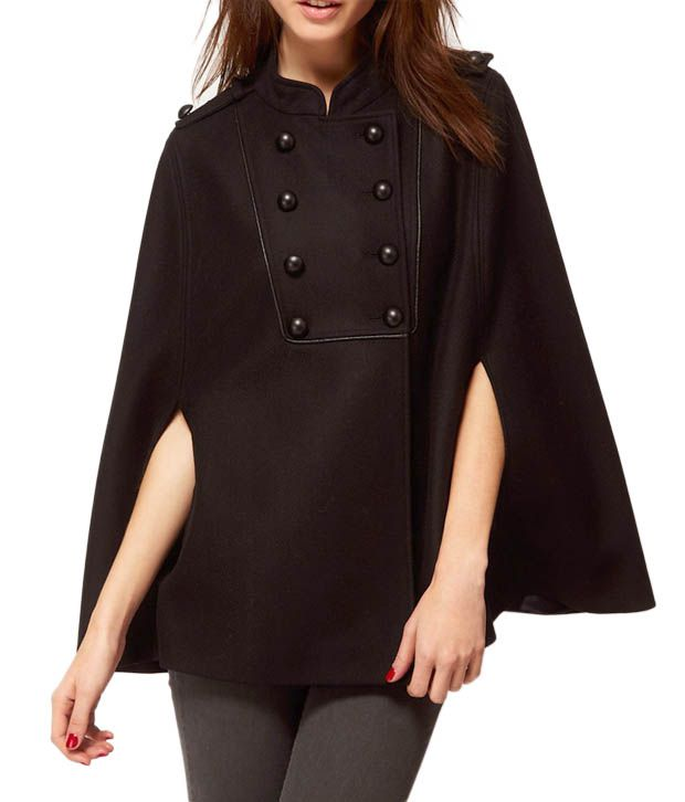 Lieben Mode Beauteous Black Cape Jacket