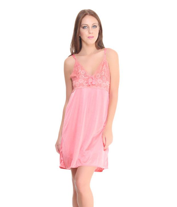 Fa Sense Charming Coral Pink Short Nighty