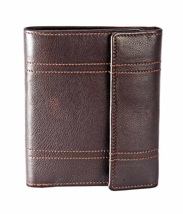 Elan Fabulous Brown Textured Ladies Wallet