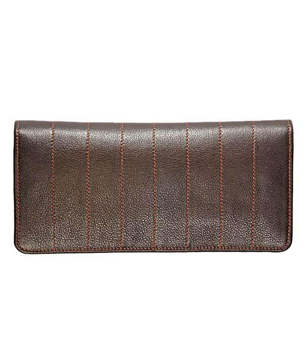 Elan Brown Textured Ladies Wallet