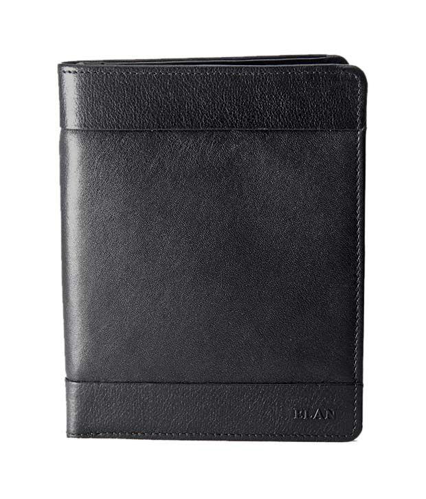 Elan Radiant Black Passport Wallet