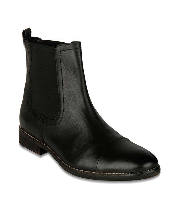 Phosphorus Black High Ankle Boots