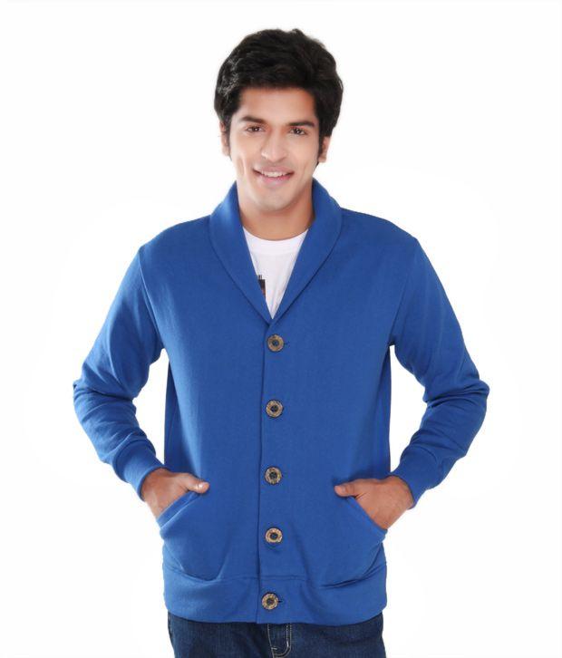 Casual Tees Royal Blue Fleece Coat Jacket