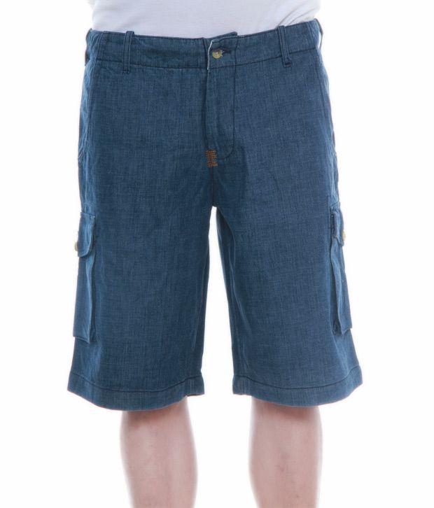 Alfredo Coporusso Cool Blue Bermuda Shorts