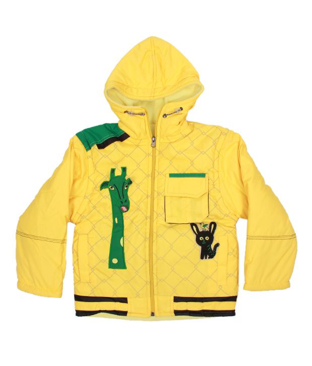 Fort Collins Yellow Hooded Jacket For Kids