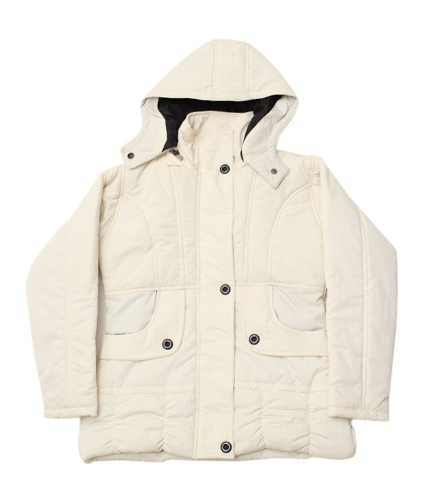 Fort Collins Cream Hooded Jacket For Kids