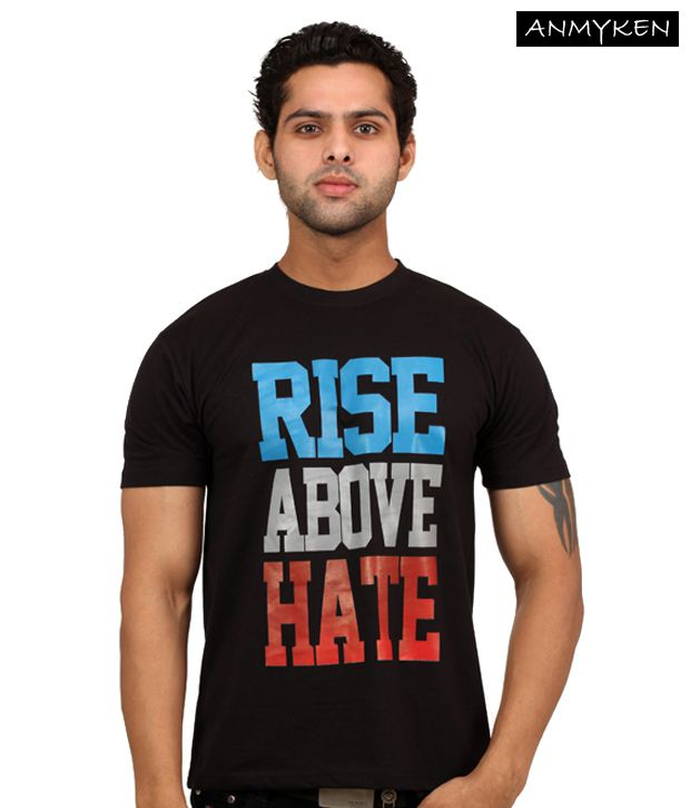 Johney B Rise Above Hate Black T Shirt