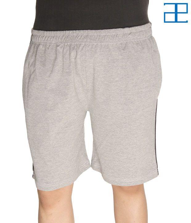 Adam n' eve Men's Grey Shorts