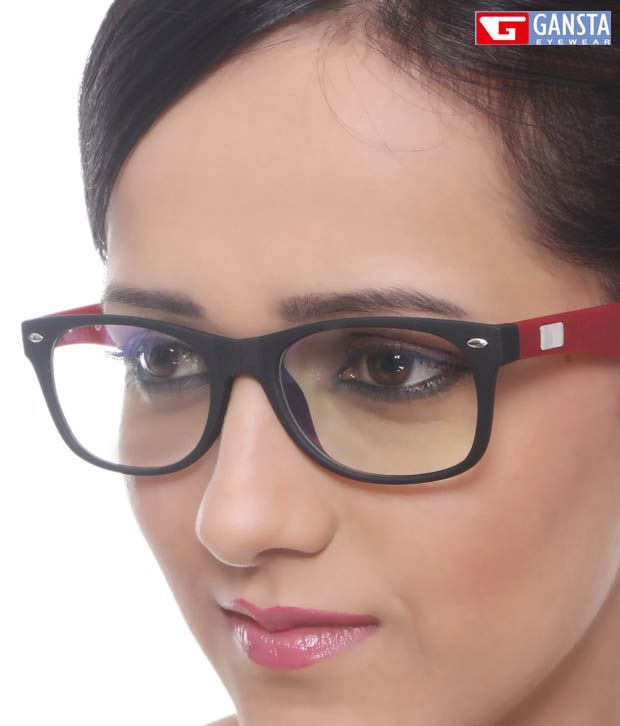 Gansta Red Wayfarer Optical Frame