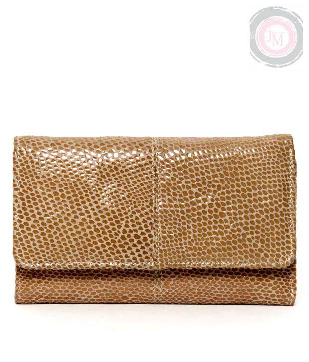 JM Trendy Brown Snake Print Wallet