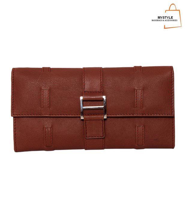 My Style Elegant Brown Textured Finish Ladies Wallet