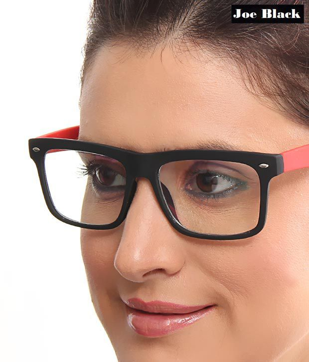Joe Black Stylish Black & Red Optical Frame