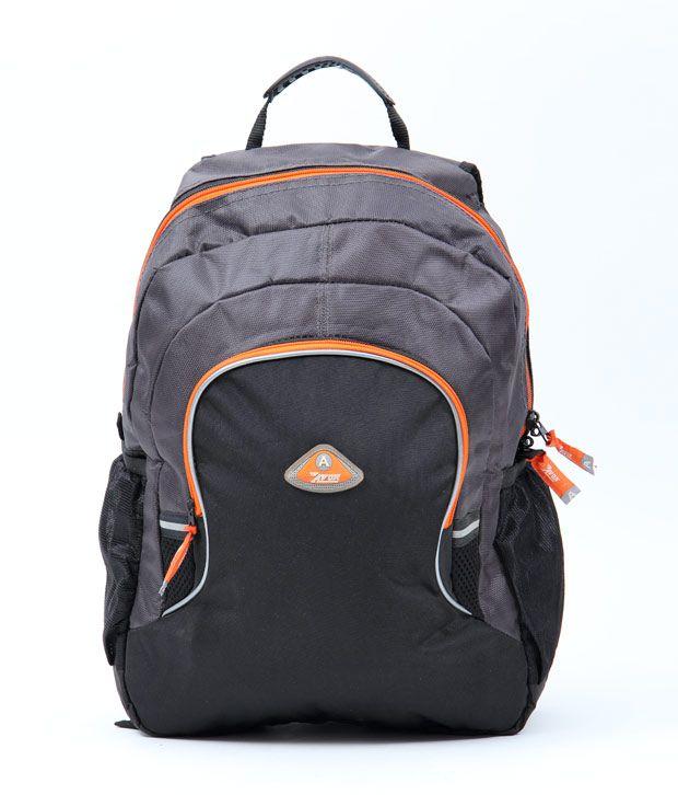 Avon Black & Grey Stylish Laptop Backpack