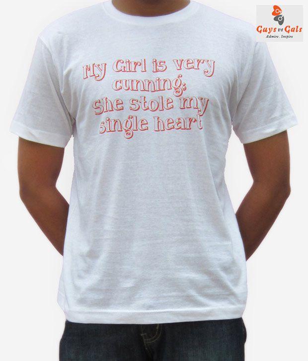 Guys Vs Gals White Tshirt