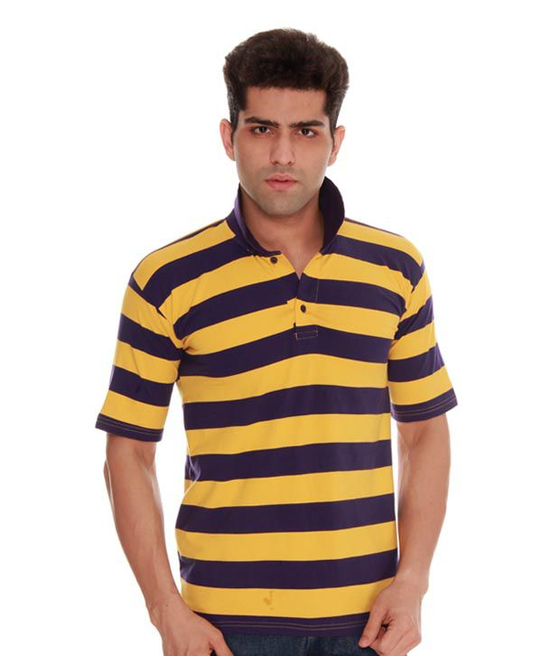Absolut Zero Polo Striper T Shirt