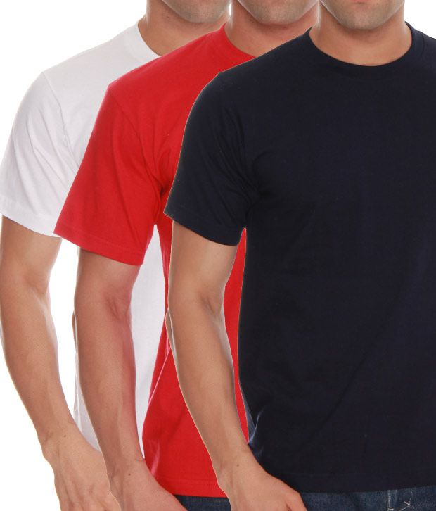 Absolut Zero White- Red- Blue Pack Of 3 T-Shirts